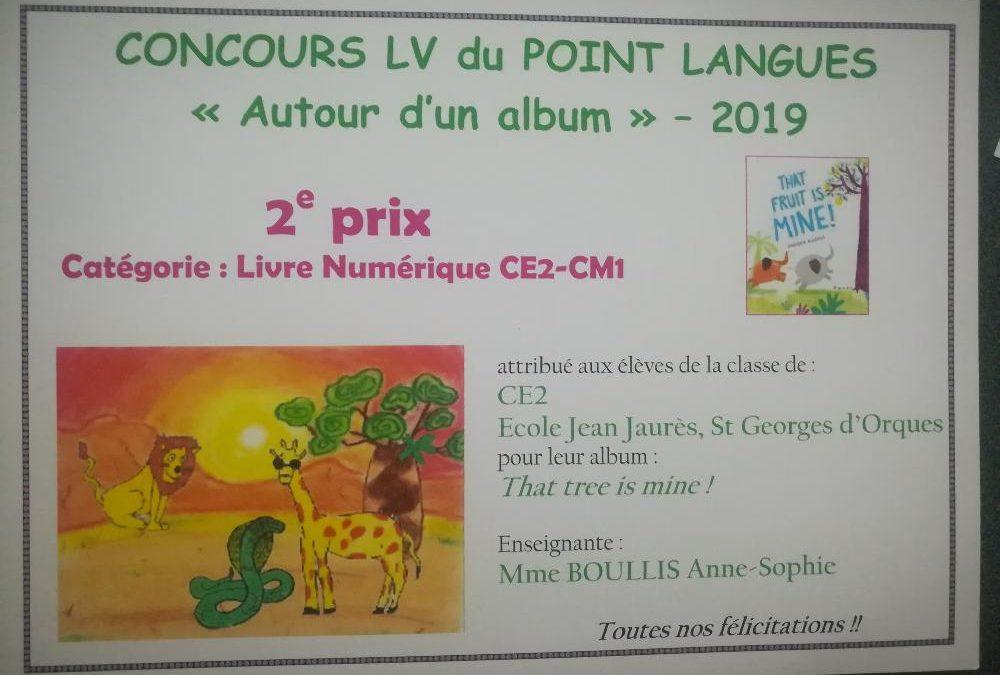 Projet scolaire: CE2 récompensé pour un concours en anglais