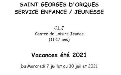 Vacances été 2021 du CLJ