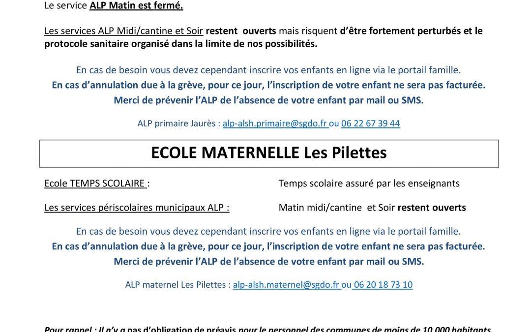 INFORMATION MOUVEMENT DE GRÈVE NATIONALE