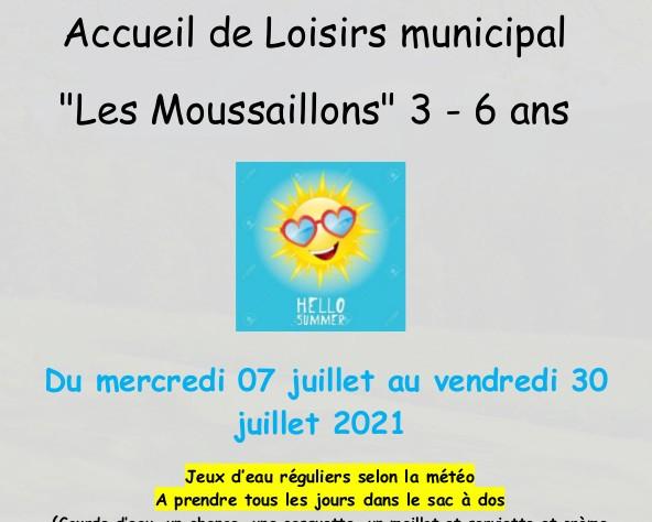 Vacances été 2021 des MOUSSAILLONS
