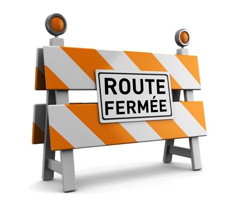 Fermeture route de Murviel les Montpellier